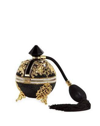 Judith Leiber Couture Bal Noir Crystal Perfume Minaudiere
