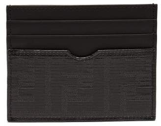 c124ae6e2841 Fendi Logo Leather Cardholder - Mens - Black