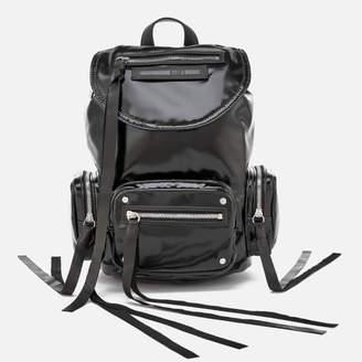 McQ Women's Mini Conv Vinyl Drawstring Bag - Black