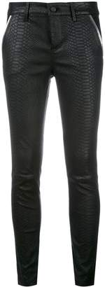 RtA snakeskin effect leather trousers