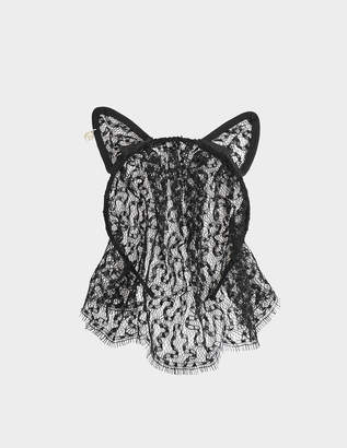 Maison Michel Cat Ears & Veil Lace headband
