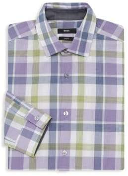 HUGO BOSS Nemos Slim-Fit Check Dress Shirt