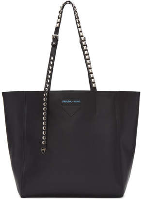 Prada Black Large Concept Studded Tote