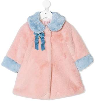 Miss Blumarine faux fur coat