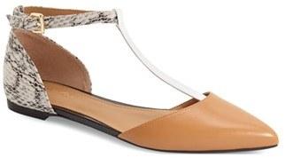 Calvin Klein 'Ghita' T-Strap Flat (Women) $98.95 thestylecure.com