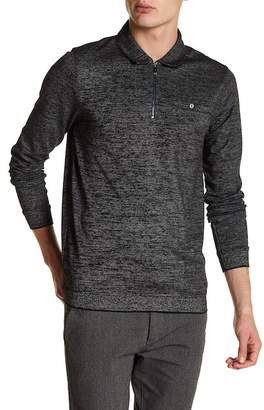 Ted Baker Long Sleeve Textured Jersey Polo