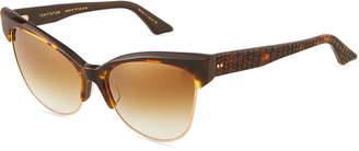 Dita Cat-Eyed Brow-Line Acetate Sunglasses