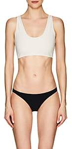 Rochelle Sara WOMEN'S THE FABI BACK-ZIP BIKINI TOP-CREAM SIZE 1