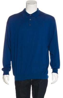Gucci Long Sleeve Polo Sweater