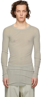 Rick Owens Grey Ribbed Long Sleeve T-Shirt