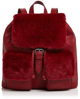 Sunset & Spring Double Pocket Faux-Fur Backpack - 100% Exclusive