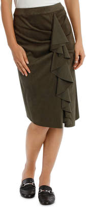 Skirt Ruffle Suedette