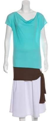 Charles Nolan Short-Sleeve Bateau-Neck Tunic