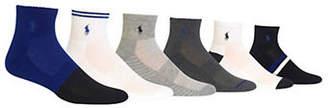 Polo Ralph Lauren Six-Pack Mixed-Pattern Quarter Socks
