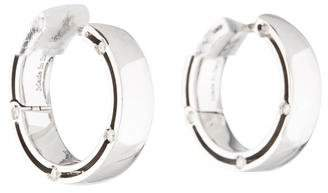Damiani & Brad Pitt 18K Diamond Hoop Earrings