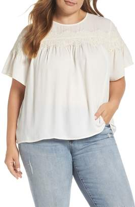 Lucky Brand Lace Yoke Top