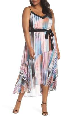 City Chic Moody Stripe Maxi Dress