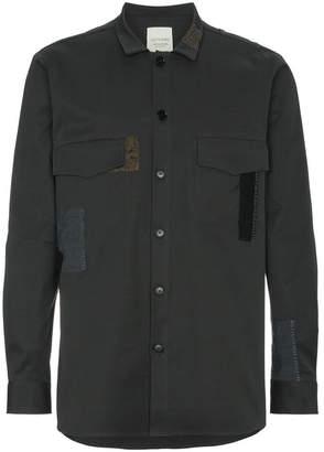 78 Stitches Grey patchwork shirt jacket