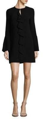Rachel Zoe Monner Ruffle-Trimmed Bell-Sleeve Shift Dress