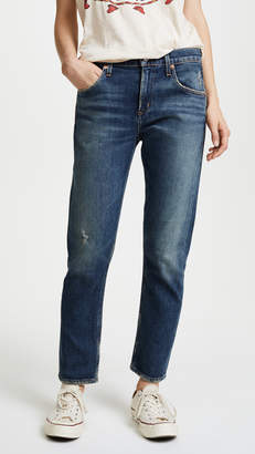 A Gold E AGOLDE The Isabel Mid Rise Slim Straight Jeans