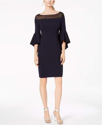 Calvin Klein Illusion Bell-Sleeve Sheath Dress
