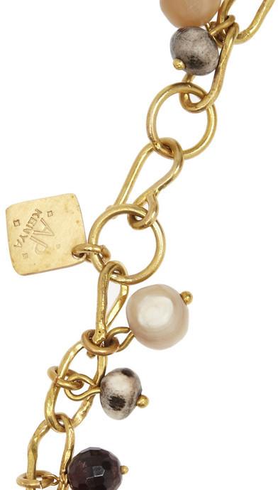 Ashley Pittman Kito bronze and horn necklace