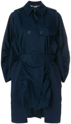 Stella McCartney ruched trench coat