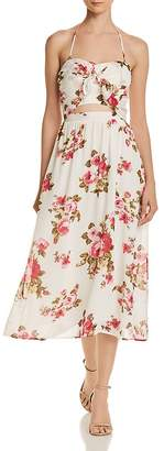 WAYF Daria Floral Halter Dress