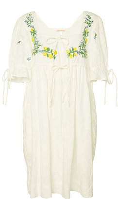 Banjanan Jardin Embroidered Cotton Dress