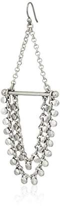 Lucky Brand Tri Tone Chain Earrings