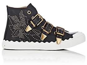 Chloé Women's Kyle Studded Leather Sneakers - Black