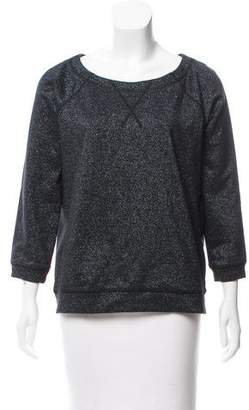 Marc by Marc Jacobs Metallic Accented Long Sleeve Top