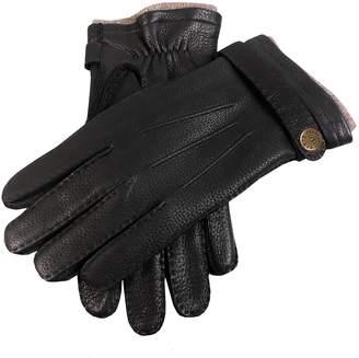 Dents Gloves Dents Gloucester Cashmere Lined Deerskin Gloves in Black
