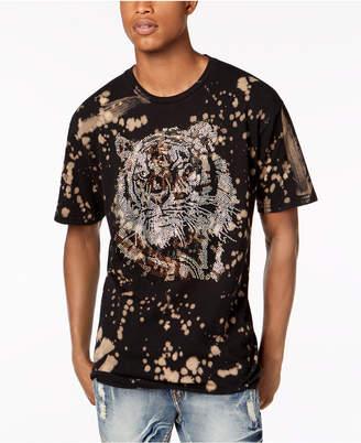 Reason Men's Rhinestone Tiger Splatter Graphic T-Shirt