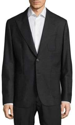 Dolce & Gabbana Regular Fit Peak Lapel Virgin Wool Sportcoat