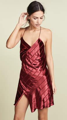 Mason by Michelle Mason Strappy Wrap Velvet Mini Dress