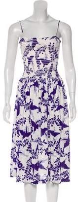 Nieves Lavi Silk Midi Dress