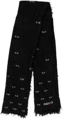 Kenzo Embroidered Knit Scarf