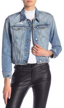 Joe's Jeans Destroyed Crop Denim Jacket