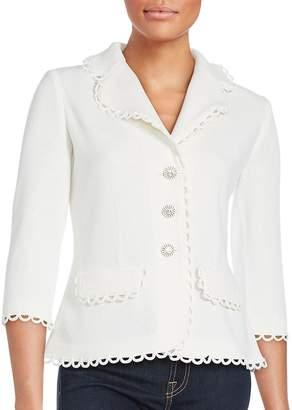 St. John Women's Wool-Blend Solid Jacket