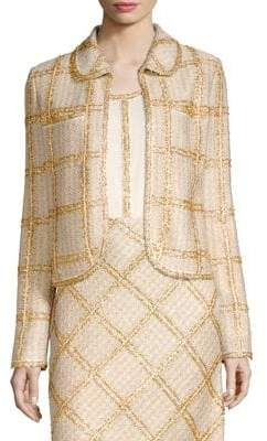 St. John Checkered Tweed Jacket