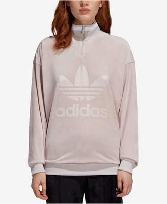 adidas Velvet Half-Zip Sweatshirt