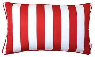 Indo Soul Indosoul Rectangle Stripe Outdoor Cushion, Dark Red