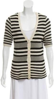 Anna Molinari Crochet Button-Up Cardigan