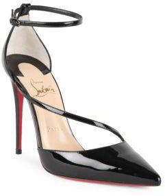 Christian Louboutin Fliketta 85 Patent Leather d'Orsay Sandals