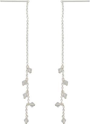 3a6989e62 Oliver Bonas Bronte Cubic Zirconia & Silver Drop Earrings