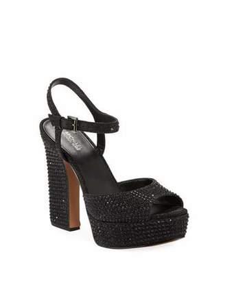 MICHAEL Michael Kors Bennett Crystal Platform Sandals
