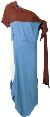 Marni asymmetric toga style dress
