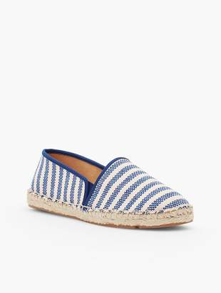 Talbots Izzy Canvas Espadrilles-Blue & Natural Stripe