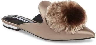 Charles David Wella Pompom Loafer Mule